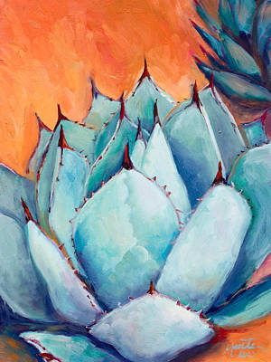 Succulent Painting - Agave 1 by Athena  Mantle