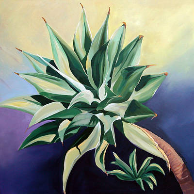 Painting - Agave 2 by Synnove Pettersen