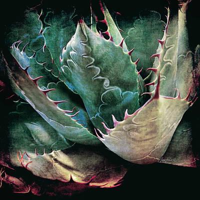 Photograph - Agave - Textured Photo Art by Ann Powell