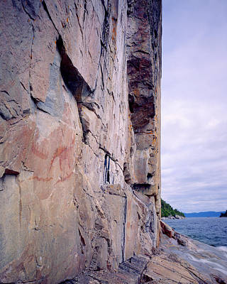 Photograph - Agawa Indian Pictographs by Tim Hawkins