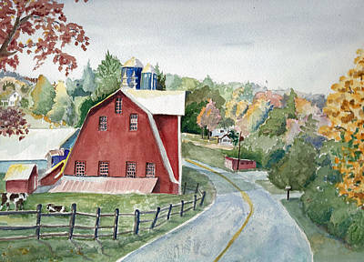 Pennsylvania - Agawam Barn Art Print by Christine Lathrop