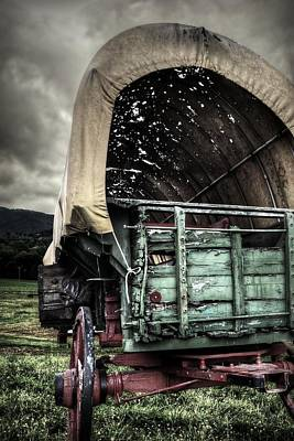 Photograph - Aged And Weathered Carriage by Amber Summerow