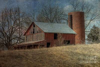 Photograph - Aged Barn And Silo by Liane Wright