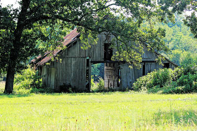 Photograph - Aged Barn by Corey Haynes