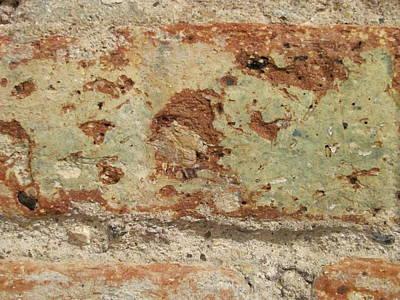 Photograph - Aged Brick Close Up by Anita Burgermeister