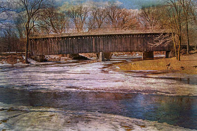 Photograph - Aged Covered Bridge  by Susan  McMenamin