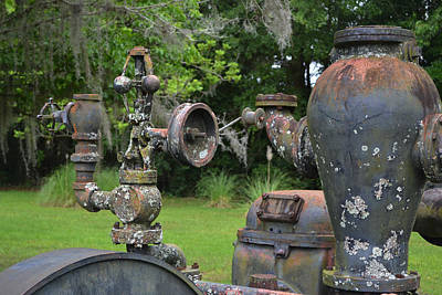 Photograph - Aged Machinery - The Water Works by rd Erickson