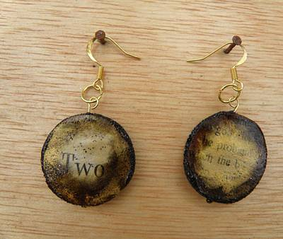 Silver Findings Jewelry - Aged Paper Circle Earrings 4 by M Brandl