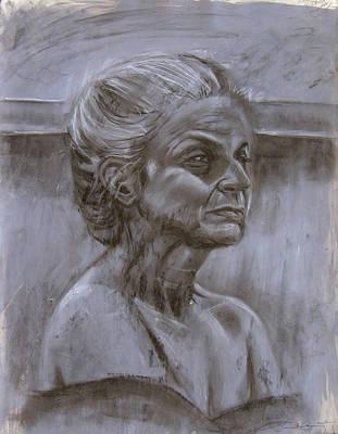 Aged Woman Art Print