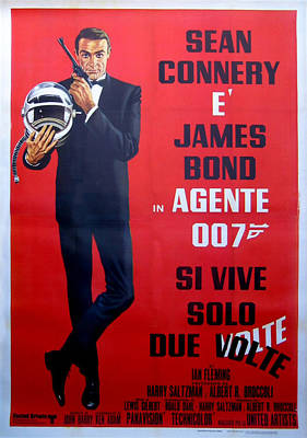 Sean Connery Digital Art - Agente 007 Si Vive Solo Due Volte by Georgia Fowler