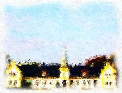 Digital Art - Agersboel Manor House_impressionist Digital Painting by Asbjorn Lonvig