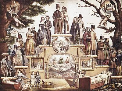 The Last Judgement Photograph - Ages Or Grades Of Human Life. Ca. 1830 by Everett