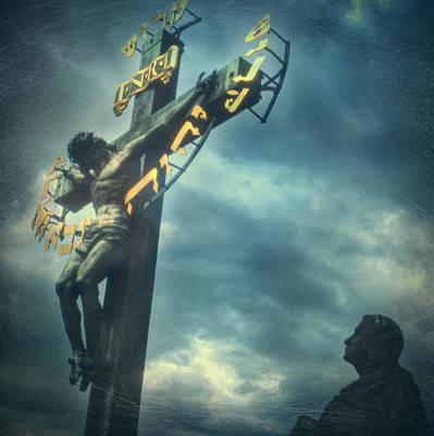 Christian Sacred Photograph - Agfacolor Jesus by Taylan Apukovska