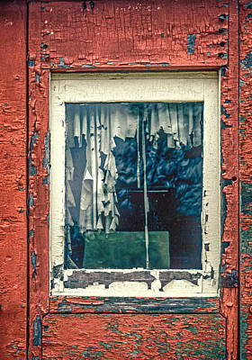 Photograph - Aging Caboose And Window by Gary Slawsky