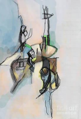 Creation Of Self Digital Art - Self-renewal 13f by David Baruch Wolk