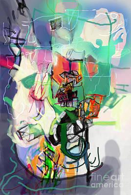 Inner Self Digital Art - Self-renewal 14l by David Baruch Wolk