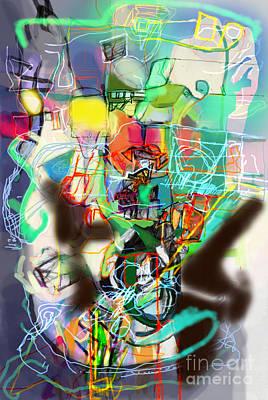 Inner Self Digital Art - Self-renewal 14o by David Baruch Wolk