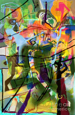 Inner Self Digital Art - Self-renewal 15ae by David Baruch Wolk