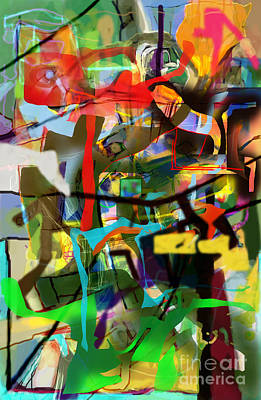 Inner Self Digital Art - Self-renewal 15ag by David Baruch Wolk
