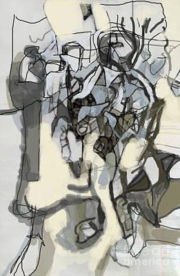 Creation Of Self Digital Art - Self-renewal 15e by David Baruch Wolk