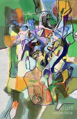 Creation Of Self Digital Art - Self-renewal 15h by David Baruch Wolk