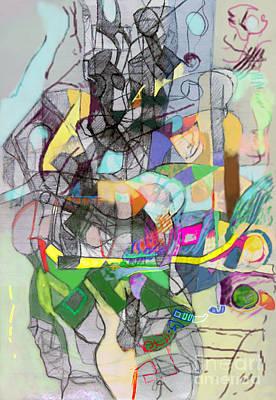 Inner Self Digital Art - Self-renewal 6l by David Baruch Wolk