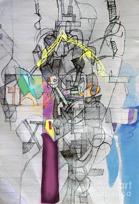 Inner Self Digital Art - Self-renewal 7e by David Baruch Wolk