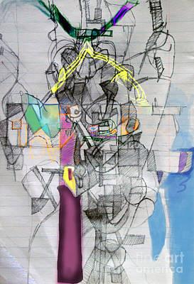 Inner Self Digital Art - Self-renewal 7f by David Baruch Wolk