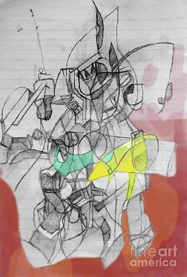 Creation Of Self Digital Art - Self-renewal 9a by David Baruch Wolk