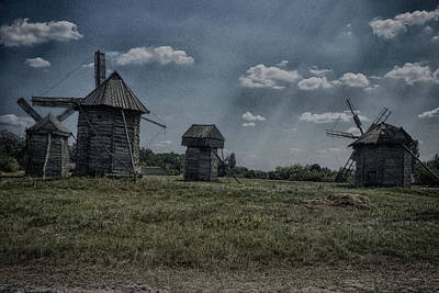 Digital Art - Aging Windmills by Munir El Kadi