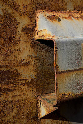 Dumpster Photograph - Aging With Rust by Karol Livote