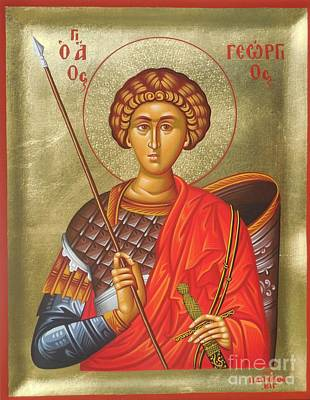 Greek Icon Painting - Agios Georgios - Saint George by Theodoros Patrinos
