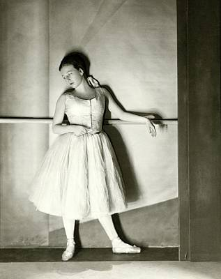 Ballet Dancers Photograph - Agnes De Mille Resting Her Arm On A Balance Bar by Nickolas Muray