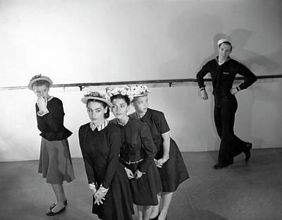 Men's Fashion Photograph - Agnes De Mille's Young Dancers Modeling Suits by Horst P. Horst