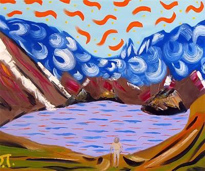 Agnes Lake Colorado Original by Troy Thomas