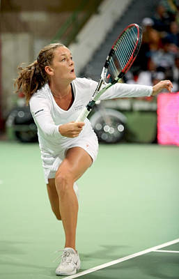 Photograph - Agnieszka Radwanska Playing In Doha by Paul Cowan
