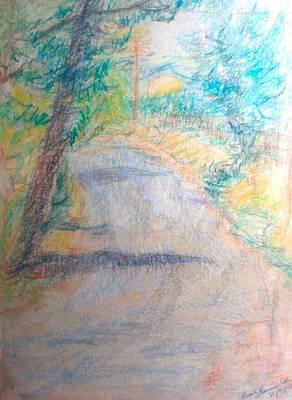 Drawing - Agnon's Jerusalem by Esther Newman-Cohen