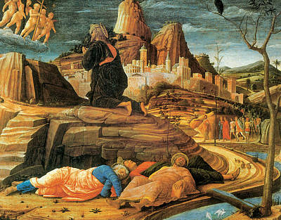 Agony In The Garden Print by Andrea Mantegna