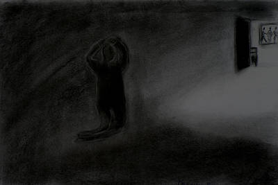 Drawing - Agony Of The Outside World 1 by Paulo Guimaraes
