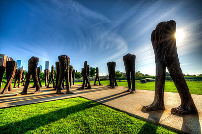 Photograph - Agora Sculpture In The Morning  by Anthony Doudt
