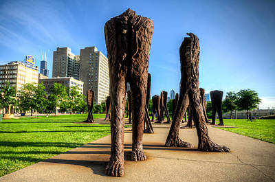 Photograph - Agora Sculpture Walking Towards You by Anthony Doudt