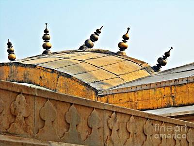Photograph - Agra Fort Roof  by Ethna Gillespie