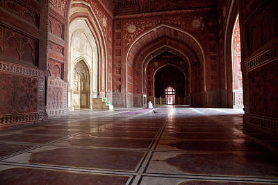 Agra, India Interior Of The Taj Mahal Art Print by Charles O. Cecil