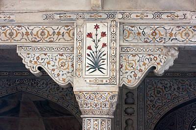 Inlay Photograph - Agra, India Pietra Dura Stonework by Charles O. Cecil