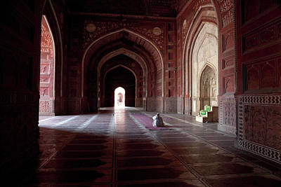 Agra, India Taj Mahal Mosque Imam Art Print by Charles O. Cecil