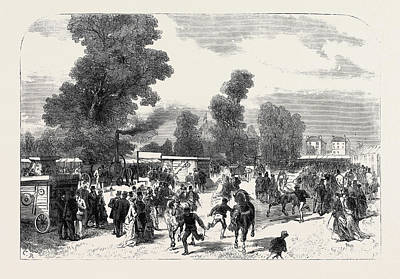 Cheltenham Drawing - Agricultural Show At Cheltenham Uk 1867 by English School