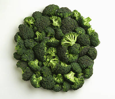 Still Life Royalty-Free and Rights-Managed Images - Agriculture - Broccoli Florets, Large by Ed Young