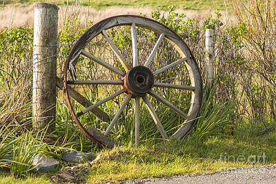 Outer Rim Photograph - Agriculture Cart Wheel Abandoned by Hugh McKean