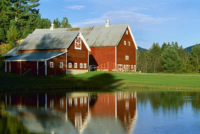 Agriculture - Classic Red New England Print by Rod Patterson