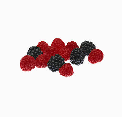 Still Life Royalty-Free and Rights-Managed Images - Agriculture - Fruit, Raspberries by Ed Young